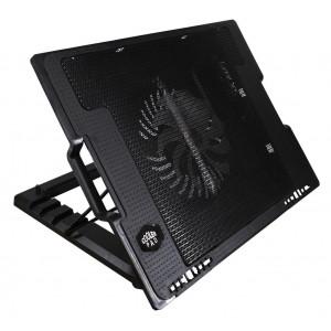 Laptop Cooler Mobilis CP140 Μαύρο με Ρυθμιζόμενη Βάση για Φορητούς Υπολογιστές έως 17 10037
