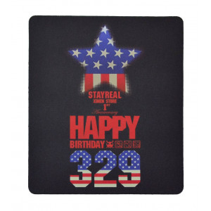Mousepad Stay Real Μαύρο - USA Flag 11702