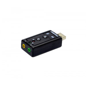 Mobilis Usb Virtual 7.1 Channel External Sound Card 12491