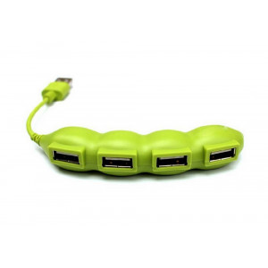 USB 2.0 Hub Peas 4 Port Green 12697