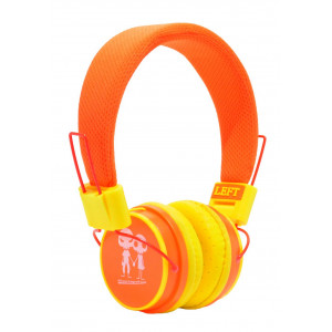 Stereo Earphone Baby EP-15 3.5 mm Orange - Yellow with Microphone and Answer Button for Mobile Phones, mp3, mp4 and Sound Devices 13691