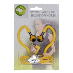 Ακουστικά Sport Ancus 3.5 mm Κίτρινο για mp3, mp4 και Συσκευές Ήχου 14862