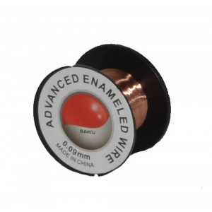 Enameled Wire for Soldering Bakku 0.09mm 15158