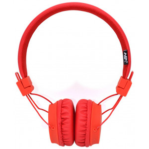 Headphone Stereo NIA Foldable NIA-A1 3.5 mm Red with Microphone for Mobile Phones, Tablet and Electronic Devices 18357