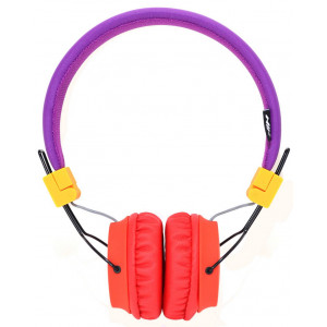 Headphone Stereo NIA Foldable NIA-A1 3.5 mm Purple with Microphone for Mobile Phones, Tablet and Electronic Devices 18360