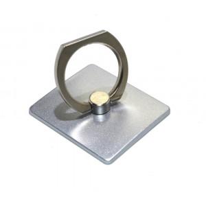 Βάση Στήριξης Γραφείου 360° Rotating Ring για Κινητά Τηλέφωνα Ασημί 3.5 x 4 cm 18746