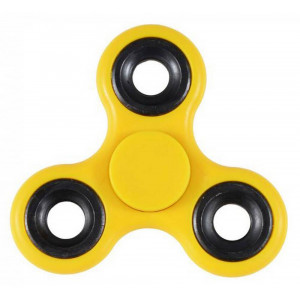Fidget Spinner ABS Plastic 3 Leaves Κίτρινο 2.5 min 20186
