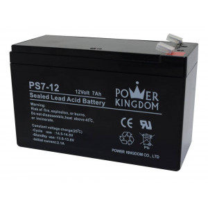 Battery for UPS Power Kingdom PS7-12 (12V 7.0 Ah)  2 kg 151mm x 65mm x 95mm 20261