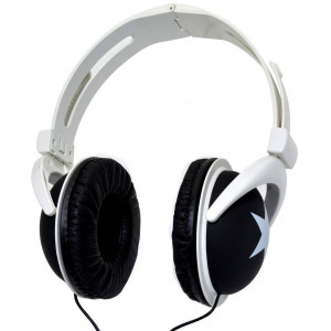 Star Foldable Stereo Headphone 3.5 mm Black for mp3, mp4 and Sound Devices Polybag 20308