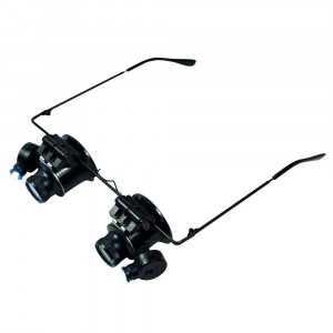 Magnifying Headlamp 9892A-II 20x with Led in Eyeglass Frame 20356