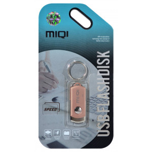 USB 2.0 MIQI Flash Drive X6 8GB Rose Gold Metal 21771