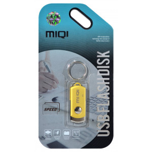 USB 2.0 MIQI Flash Drive X6 4GB Gold Metal 21774