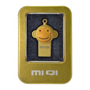 USB 2.0 MIQI Flash Drive M1 16GB Gold Metal 21777