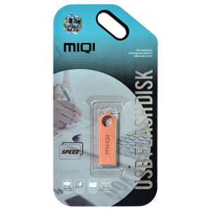 USB 2.0 MIQI Flash Drive X1 8GB Rose Gold Metal 21778