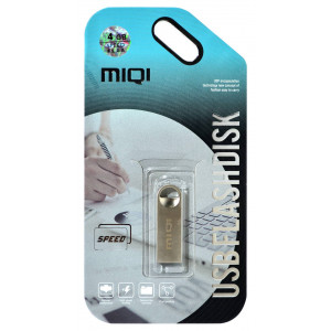 USB 2.0 MIQI Flash Drive X1 4GB Ασημί Metal 21783