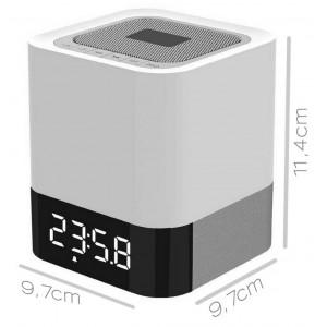 Φορητό Ηχείο Bluetooth Musky DY28 5W Λευκό με Φωτισμό, Οθόνη Led, Ξυπνητήρι, Αισθητήρα Αφής και Ανοιχτή Ακρόαση 21813