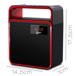 Wireless Portable Speaker Musky DY31 8W Black with FM Radio, Speakerphone, Audio-In and USB Port 21819