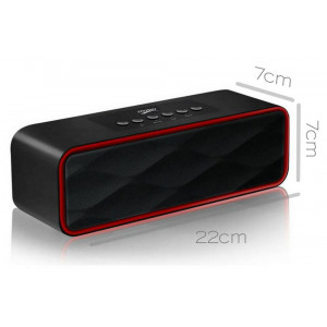 Wireless Portable Speaker Musky DY22 2χ5W Black with FM Radio, Speakerphone, Audio-In and USB Port 21820