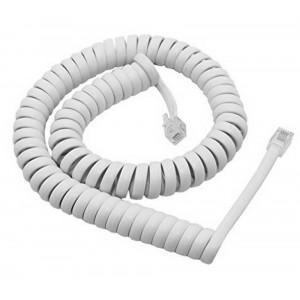 Τηλεφωνικό Καλώδιο Σπιράλ Λευκό 3m Bulk 21874