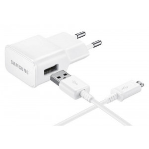 Travel Charger Samsung ETA-U90EWΕ 10W with Detachable Cable Micro USB ECB-DU4AWE White 2000 mAh Original Bulk 22047