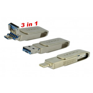 USB 3.0 Noozy U019 OTG USB Drive 3-in-1 Type C σε Micro USB + USB 32GB 22855