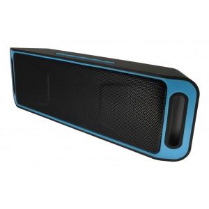 Φορητό Ηχείο Bluetooth HMC-S208 2x3W/4Ω με Ραδιόφωνο, Audio-In, Ανοιχτή Ακρόαση και Υποδοχή USB Μαύρο-Μπλέ 22899