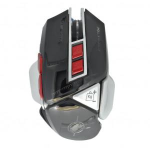 Ενσύρματο Ποντίκι Keywin 9D Gaming Mouse 7 Πλήκτρων 4800 DPI με Ρύθμιση Βάρους Μαύρο - Ασημί 22930