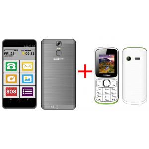 Maxcom MS553 FS (Dual Sim) LTE  Μαύρο + Maxcom MM129 (Dual Sim) 22972