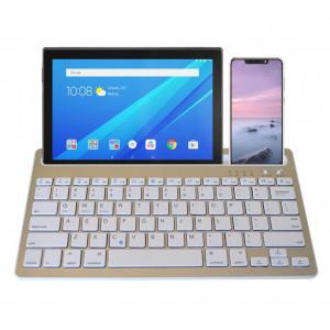 Πληκτρολόγιο Bluetooth Mobilis RK908 για Smartphone, Tablet, PC και SmartTV Ασημί 24092
