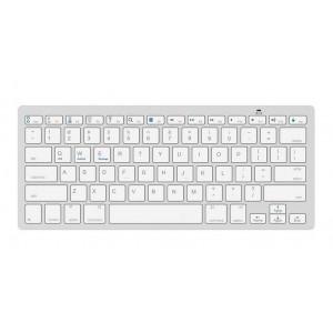 Πληκτρολόγιο Bluetooth Mobilis BK3001 για Smartphone, Tablet, PC και SmartTV Ασημί - Λευκό 24098