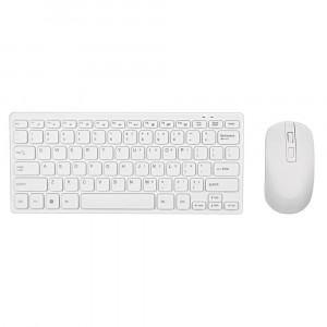 Πληκτρολόγιο Wireless Mobilis Mini Keyboard με Ασύρματο Ποντίκι 4 Κουμπιών Λευκό 24106