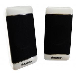 Ηχείο Stereo Multimedia Ezeey S4 με σύνδεση 3.5mm και USB φόρτιση, 2.5W x 2, 4Ω 3W, Λευκό 24113