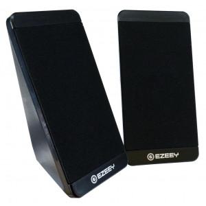 Ηχείο Stereo Multimedia Ezeey S5 με σύνδεση 3.5mm και USB φόρτιση, 2.5W x 2, 4Ω 3W, Μαύρο 24114