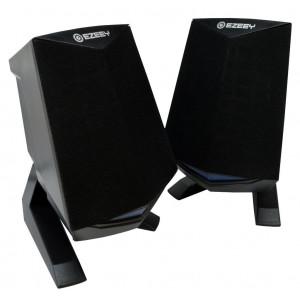 Ηχείο Stereo Multimedia Ezeey Black Samurai A4 με σύνδεση 3.5mm και USB φόρτιση, 3W x 2, Μαύρο 24124