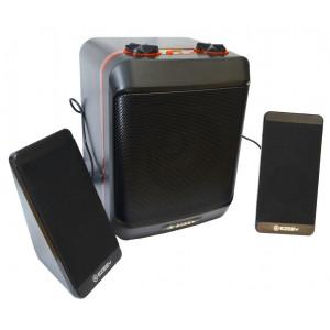Ηχείο Stereo Multimedia Ezeey S5 Max με σύνδεση 3.5mm και USB φόρτιση, Μαύρο 24125