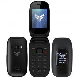 FlameFox Flip3 (Dual Sim) με 2 Οθόνες (1.77'' & 1.44''), Bluetooth, Κάμερα, Ραδιόφωνο (Λειτουργεί χωρίς Handsfree)