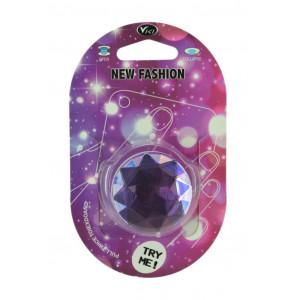 Pop Βάση Κινητού Crystal Diamond Μωβ 25637