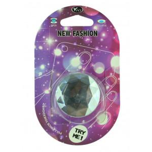 Pop Βάση Κινητού Crystal Diamond Ασημί 25638