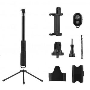 Selfie Stick Monopod Bluetooth Sports Gear LDX-808 Suit για GoPro, Φωτογραφικές Μηχανές και Κινητά Τηλέφωνα. Πτυσσόμενο Μαύρο (Μήκος Κονταριού 36cm, Μήκος Ανοίγματος 110cm) 25647