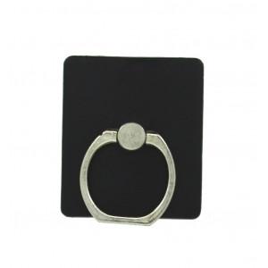 Βάση Στήριξης Γραφείου 360° Rotating Ring Ακρυλικό για Κινητά Τηλέφωνα Μαύρο 3.5 x 4 cm 25696