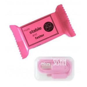 Καλώδιο σύνδεσης Jasper Candy USB σε Micro USB 20cm Ροζ 26306