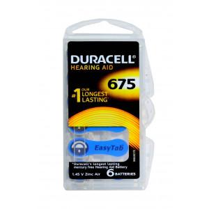 Μπαταρίες Ακουστικών Βαρηκοΐας Duracell 675 Zinc Air 1,45V Τεμ. 6 4043752153743