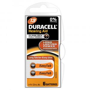 Μπαταρίες Ακουστικών Βαρηκοΐας Duracell A13 Zinc Air 1,4V Τεμ. 6 4043752153798