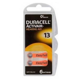 Hearing Aid Batteries Duracell 13 Activair 1,45V Pcs. 6 4043752174694