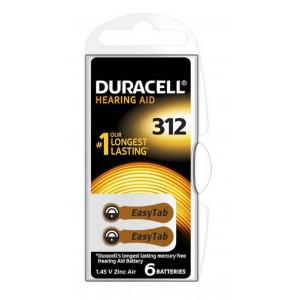 Hearing Aid Batteries Duracell 312 Activair 1,45V Pcs. 6 4043752174748