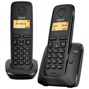 Ασύρματο Ψηφιακό Τηλέφωνο Gigaset A120 Duo Μαύρο 4250366827032