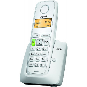 Ασύρματο Ψηφιακό Τηλέφωνο Gigaset AS160 Λευκό 4250366846590