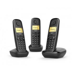 Ασύρματο Ψηφιακό Τηλέφωνο Gigaset A170 Trio Μαύρο 4250366850924