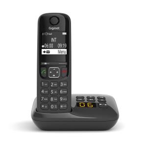 Ασύρματο Ψηφιακό Τηλέφωνο Gigaset AS690A Μαύρο με Αυτόματο Τηλεφωνητή 4250366854878