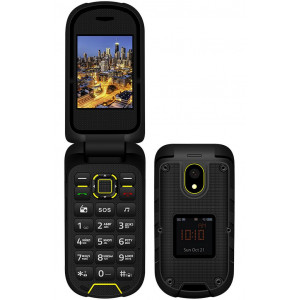 Vertex K205 Dual Sim IP68 με Κάμερα, 2 Οθόνες, Bluetooth, Ραδιόφωνο, Φακό Μαύρο 4680416001714